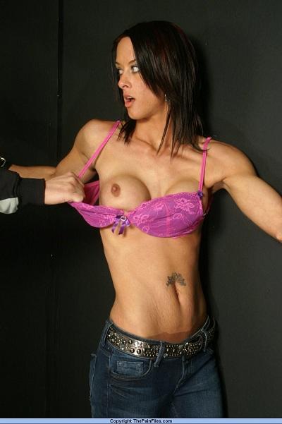 Stunning fetish babe whipped and bound
